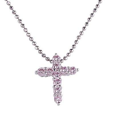 【JHT金宏總珠寶/GIA鑽石專賣】 天然十字架鑽石項鍊/材質:PT900/PT850(鍊)(JB50-A18)