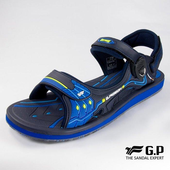 鞋鞋樂園-超取免運-GP-吉比-阿亮代言-男性高彈力舒適涼拖鞋-兩用鞋-磁扣設計-穿脫方便-GP涼鞋-G8666M-20
