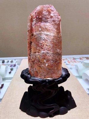 ❤妙玉生花優品購❤精品天然粉幽靈原石吊墜,財源滾滾,晶體剔透