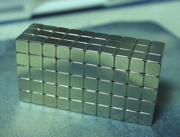 釹鐵硼磁鐵-10mmx10mmx10mm-正方形超強力磁鐵@萬磁王@