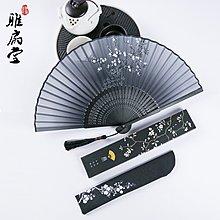 杭州古風女式隨身便攜流蘇手搖小扇漢服扇子折扇中國風折疊扇舞蹈夏季扇子