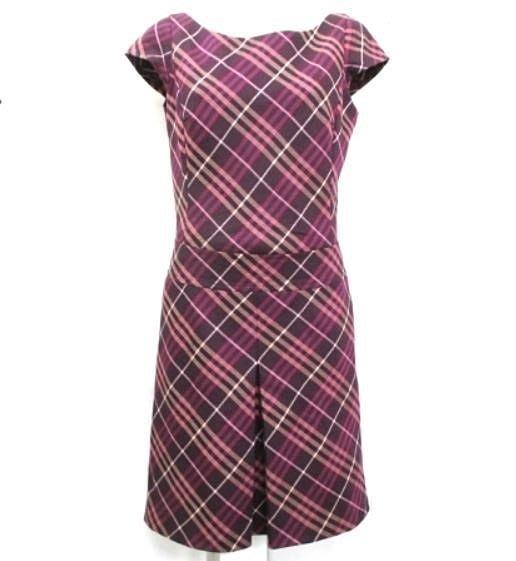 展示新品 BURBERRY 女洋裝~100%真品---純毛料