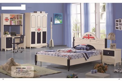 [京采家具]☆HP986# 雙人床  床頭櫃  書桌  衣櫃  升降椅