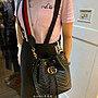 【Brand二手名品】Gucci GG Mormont quilted leather 黑色 雙背帶 水桶包 現貨