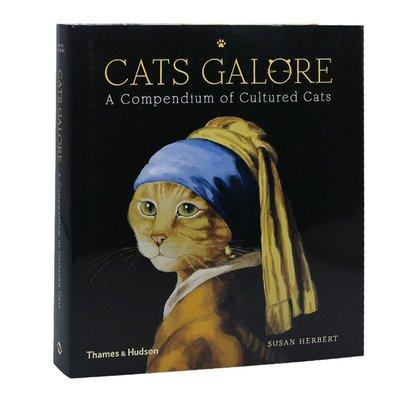 原版 Cats Galore: A Compendium of Cultured Cats 名畫名貓 貓貓藝術繪畫畫冊
