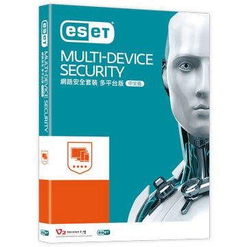 ESET MULTI-DEVICE SECURITY 網路安全套裝多平台版 1人3年盒裝版