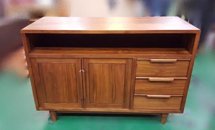 樂居二手家具 全新中古傢俱賣場 HMCD0511AJA*全新丹麥柚木餐櫃 碗盤收納櫃*高低櫃 隔間屏風櫃 電視矮櫃