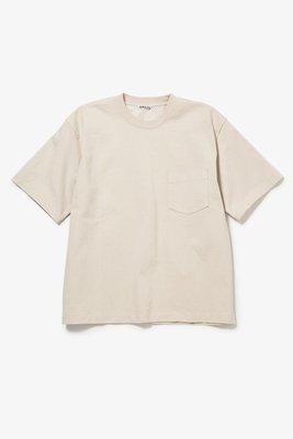 2019SS AURALEE STAND-UP TEE 淡黃色 尺寸3號