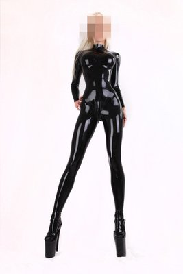 CD偽娘雜貨鋪乳膠衣 女乳膠緊身衣 3D立體裁剪 女款乳膠衣 Latex CATSUIT
