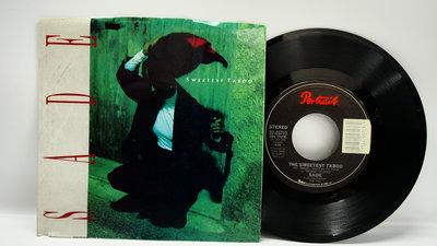 45 rpm 7吋單曲 Sade 【Sweetest Taboo】1985 美國首版