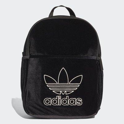 ADIDAS ORIGINALS 愛迪達 小背包 黑白 黑色 書包 後背包 水壺袋 天鵝絨 DH2959 請先詢問庫存