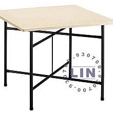 【品特優家具倉儲】R806-21餐桌剪刀腳纖維桌白石花