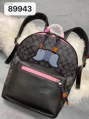 COACH 89943 最新款Disney聯名款小飛象男生雙肩後背包 男女可用雙肩背包