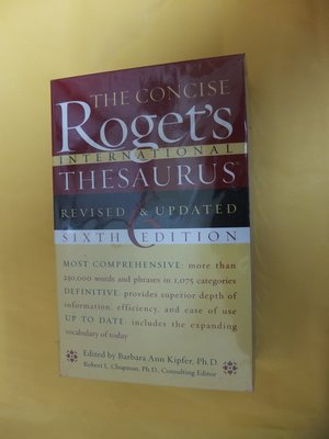 The Concise Roget's International Thesaurus 6/E Kipfer