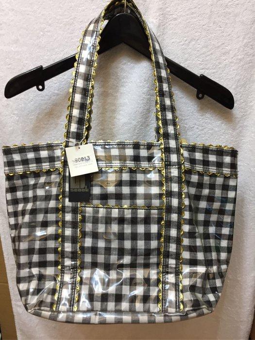 [變身館日本服飾]~SCOOL~托特包~水桶包~帆布包~肩背包~萬用包~手提袋~防水~格紋~日本進口~全新現品~出清價