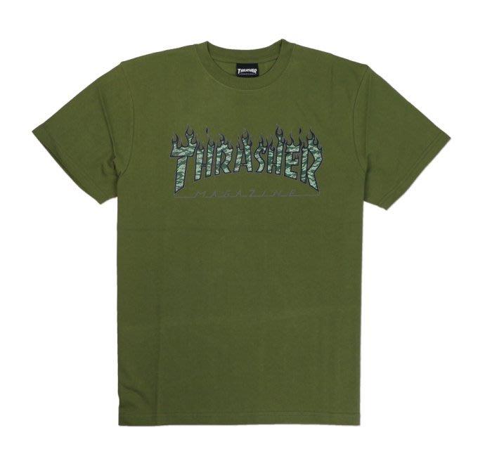 沃皮斯§THRASHER GREEN TIGER FLAME 虎紋 火焰 TSM1830400305