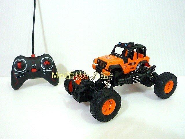 1/18 1:18無線遙控越野車-遙控車-大腳車-攀爬車-仿 jeep 小藍哥吉普車-橘