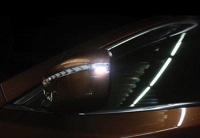 金強車業 NISSAN 逍客QASHQAI 2013原廠部品 後視鏡流水燈 跑馬燈 方向燈 小燈 定位燈 序列式