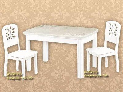 【DYL】帕克4.3尺爆花石面餐桌(全館一律免運費)A系列