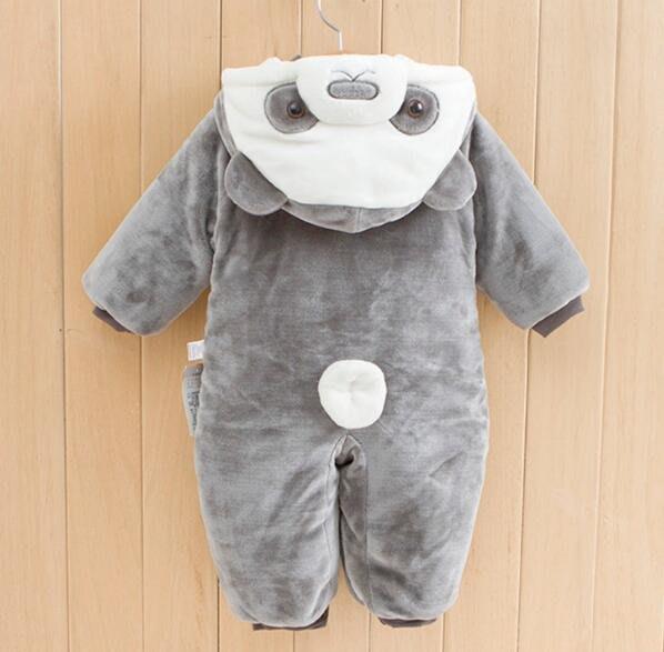 新生兒男女寶寶秋冬裝 嬰兒連體衣服 冬季加厚外出服 保暖抱衣 哈衣 睡衣—莎芭