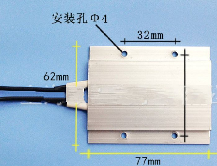 定位孔式PTC發熱體 24V 200W 最高溫度200度