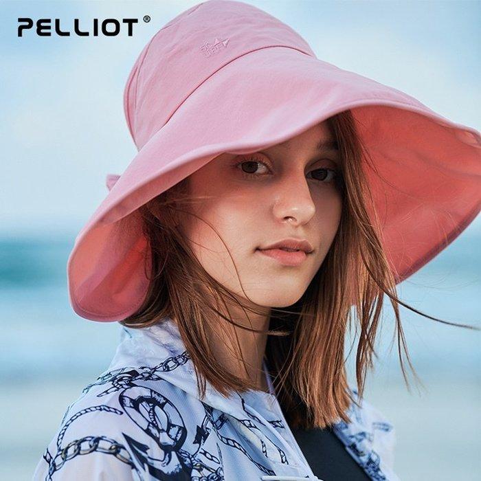 【露西小舖】Pelliot超輕大帽簷漁夫帽UPF50+空頂遮陽帽防曬帽沙灘帽防紫外線帽休閒帽透氣速乾帽運動帽太陽帽旅遊帽