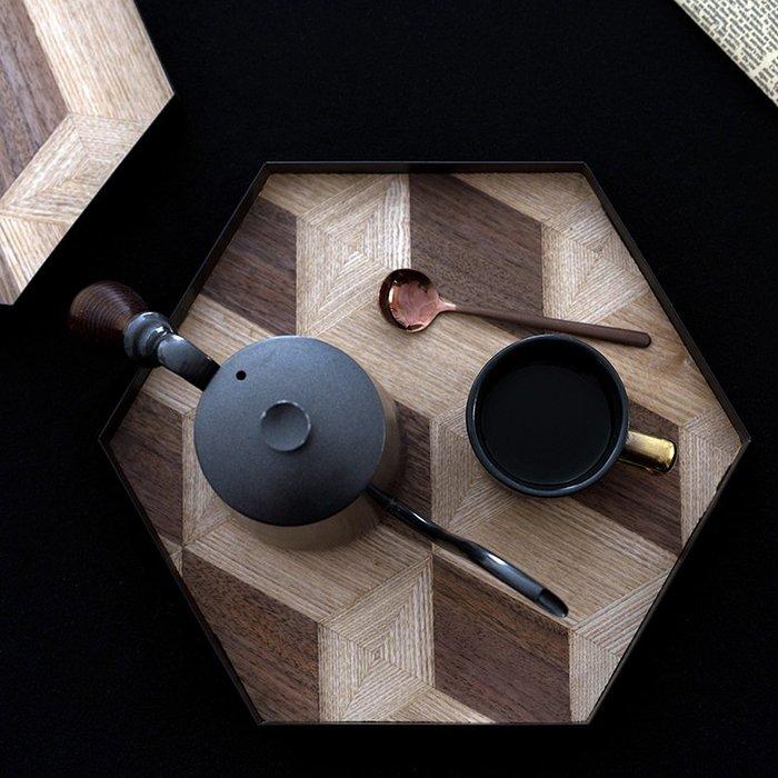 MAJPOINT*托盤 茶盤 廚房餐具 六邊拼接木製 收納盤 簡約鄉村 設計工藝品 北歐 INS 咖啡廳 生日派對 擺盤