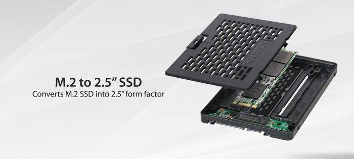 光華CUMA散熱精品*ICY DOCK MB703M2P-B M.2 SATA SSD 轉 2.5吋 轉接盒~現貨