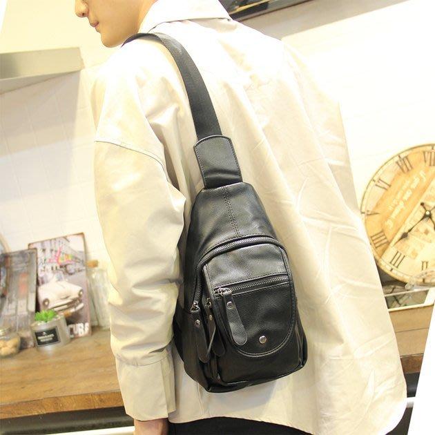 FINDSENSE 韓國男包 G6 男用休閒包側背包休閒胸包皮質小包男士斜挎包單肩包運動背包潮大容量
