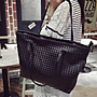 時尚百搭大容量編織包 大容量肩側背包 休閒手提包拖特包(預購)
