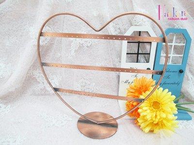 ☆[Hankaro]☆創意鐵藝愛心造型耳環收納架(樣品出清)