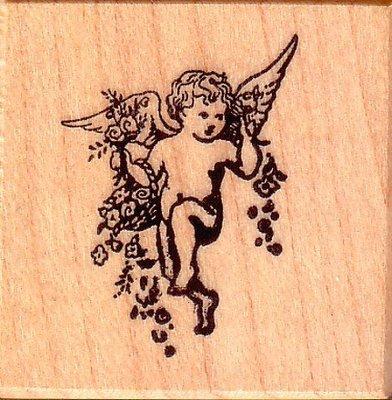 陽光一品DIY卡片印章專賣店~~PSX印章--花花小天使--#B176# 美國製絕版品
