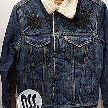 「NSS』LEVI'S LEVIS DENIM JACKET 16365-0062 水洗鋪棉刺繡 牛仔外套 XS S