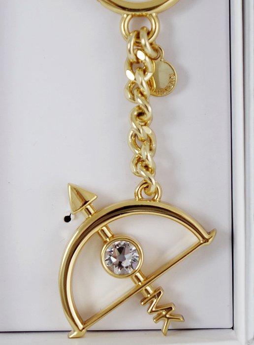 全新美國名牌 Michael Kors MK 金色鑲鑽金屬十二星座鑰匙圈系列 - 射手座,附禮盒,低價起標無底價!免運!