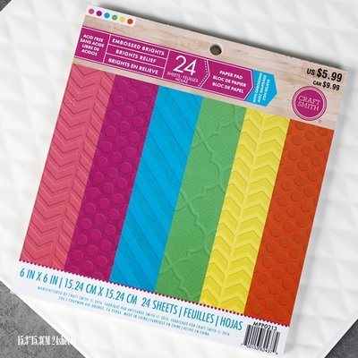 AAA手帳 便簽 活頁 線圈本 兔子家 6寸24張.SCRAPBOOK 凈面壓凸素材本 彩虹色+中性色.180GAAA