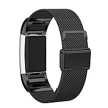 【現貨】ANCASE Fitbit charge 2錶帶Fitbit charge2代米蘭粗網不銹鋼錶帶/腕帶