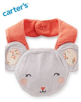 妙寶貝♡Carter's可愛老鼠造型圍兜兜(滿月/彌月禮物),另有Oshkosh、Crazy8、Gymboree美國童裝