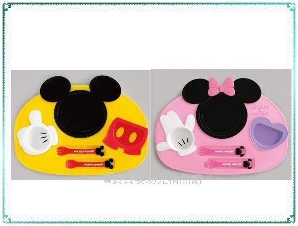 現貨_日本製 DISNEY 迪士尼 兒童餐具 6件組 米奇 / 米妮 【Q寶寶】