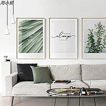 北歐綠植客廳裝飾畫小清新葉子植物牆畫畫芯現代壁畫樹葉(4款可選)