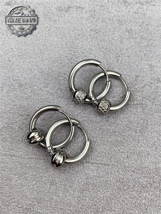 簡約珠形鈦鋼耳環個性男女潮流時尚朋克搖滾嘻哈配飾品