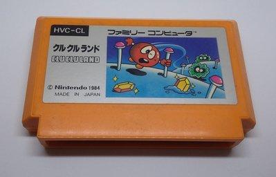 任天堂 Nintendo  正日本原版卡帶 ~~ 豆豆迷魂陣    Clu Clu Land  , 任天堂 FC 紅白機