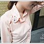 襯衫 歐美時尚領口華麗寶石美背設計襯衫 【...