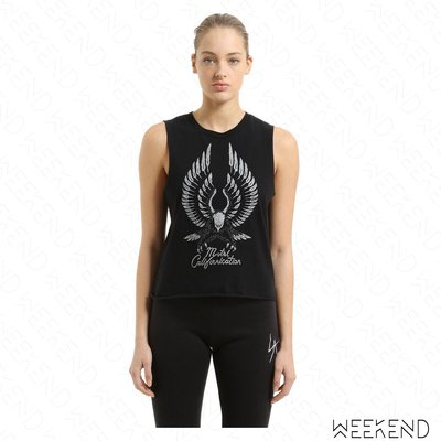 【WEEKEND】 LOCAL AUTHORITY 印圖 老鷹 無袖 T恤 黑色 18春夏新款