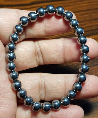 天然 太赫茲 鈦赫茲手鍊 6mm+ 能量石手珠手鍊DIY串珠項鍊 ❤水晶玉石特賣#A1100