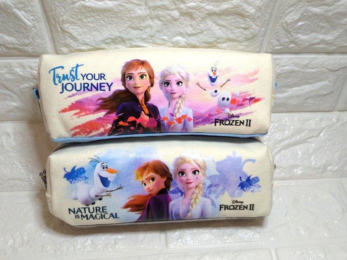 迪士尼 冰雪奇緣2 帆布單層筆袋