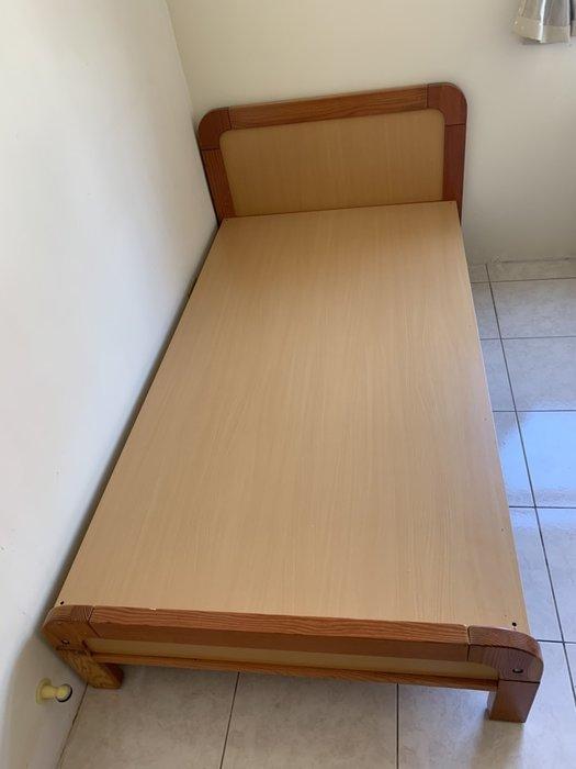 訂做堅固型 全實木3.5尺床架 CP質高 單人加大 學生套房 三尺半 單人床 床架 實木床架 床 A2115-予新傢俱