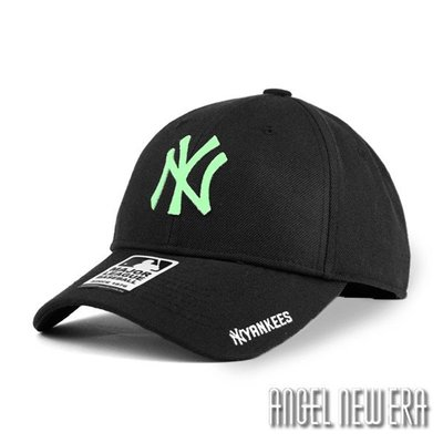 【PD帽饰】【MLB Old Fashioned Cap】NY 洋基 經典黑 夜光 老帽 鴨舌帽【ANGEL NEW ERA 】