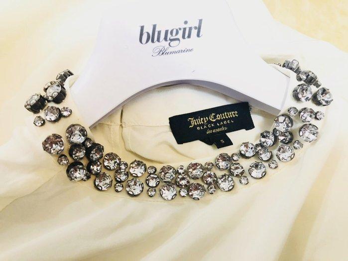 原價三萬 Juicy Couture Black Lable 大顆施華洛世奇水鑽領飾米白色長袖仙女裝