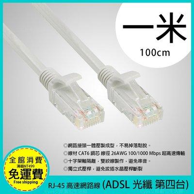 1米【RJ-45】CAT.6 高速網路線 支援ADSL/網路光纖/MOD 網路數據線 一體成型不易斷裂