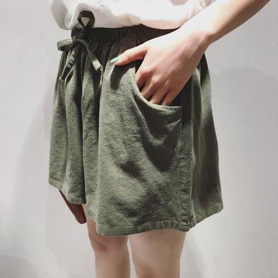現貨/棉麻短褲女夏季寬鬆緊亞麻高腰闊腿褲五分大碼胖mm運動休閒熱褲子187SP5RL/ 最低促銷價